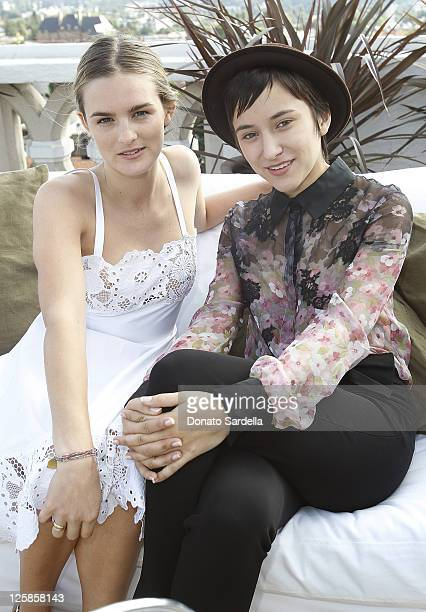 Nathalie Love and actress Zelda Williams attend Vogue and Valentino Celebrate Spring/Summer 2011 Collection Hosted by Jacqui Getty and Gia Coppola...