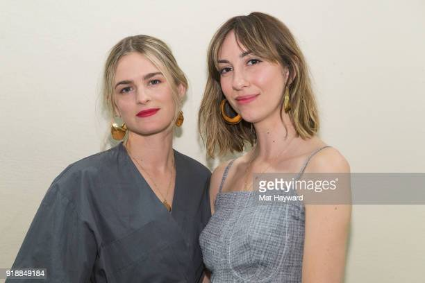 Nathalie Love and Gia Coppola attend the Celine Nordstrom PopUp at Nordstrom on February 15 2018 in Seattle Washington