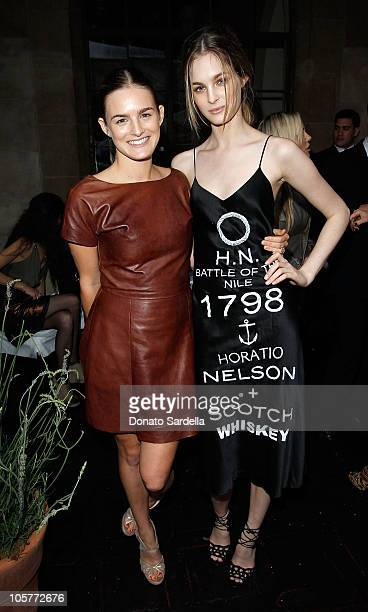 Nathalie Love and Laura Love attend the 2010 CFDA Vogue Fashion Fund Finalists Celebration with Frederic Fekkai and Lisa Love at Chateau Marmont on...
