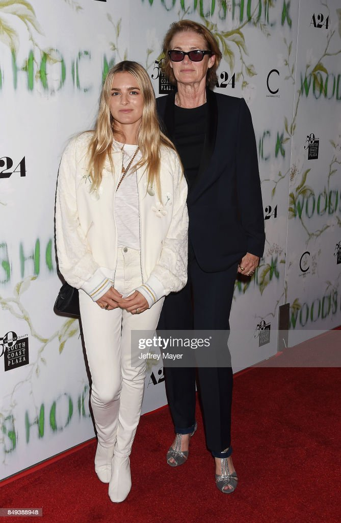 Nathalie Love and Lisa Love attend the premiere of A24's 'Woodshock' at the ArcLight Cinemas on September 18, 2017 in Hollywood, California.