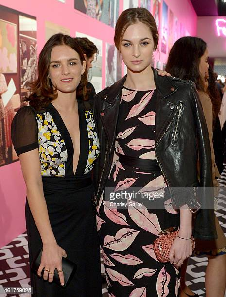 Nathalie Love and Model Laura Love wearing Diane Von Furstenberg attend Diane Von Furstenberg's Journey of A Dress Exhibition Opening Celebration at...