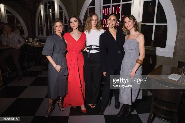 Nathalie Love Rowan Blanchard Petra Collins Cleo Wade and Gia Coppola attend the Celine Nordstrom PopUp launch celebration at Matt's in the Market...