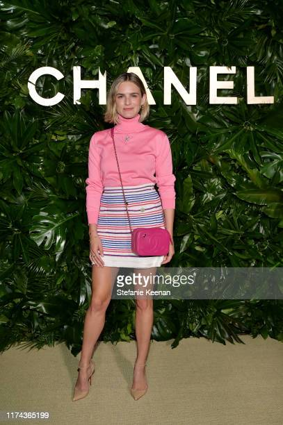 Nathalie Lovewearing CHANEL attends Chanel Dinner Celebrating Gabrielle Chanel Essence With Margot Robbie on September 12 2019 in Los Angeles...