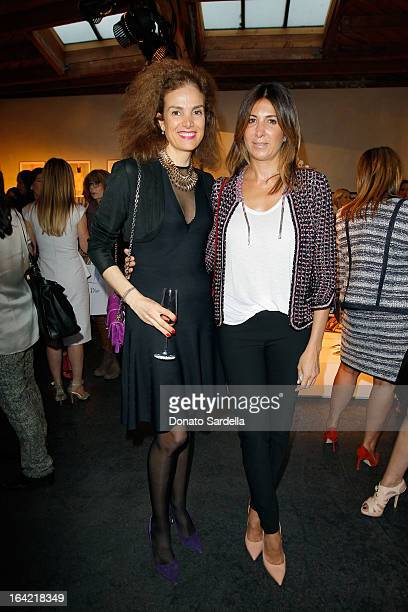 Nathalie Marciano and Celine Benche attend a celebration hosted by Dior Maxfield for the launch of Raf Simons' debut PretaPorter collection for...