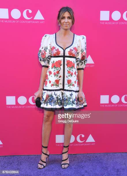 Nathalie Marciano arrives at the MOCA Gala 2017 at The Geffen Contemporary at MOCA on April 29 2017 in Los Angeles California