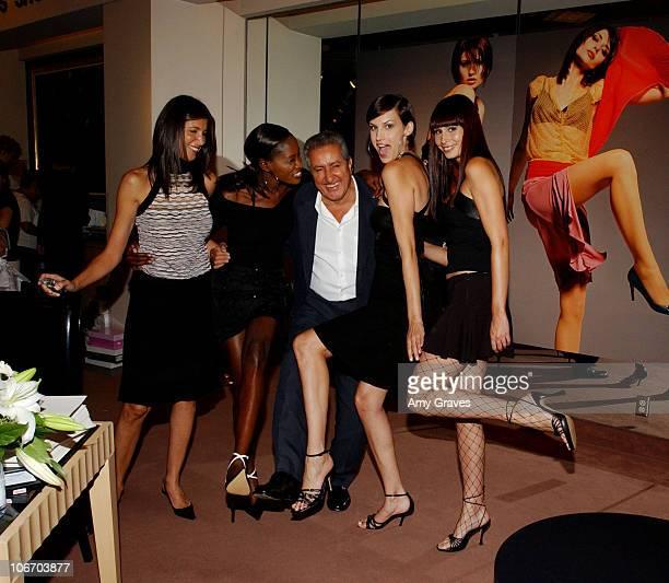 Nathalie Marciano Creative Director of Charles David and Charles Malka CEO/Owner of Charles David with models wearing Charles David shoes