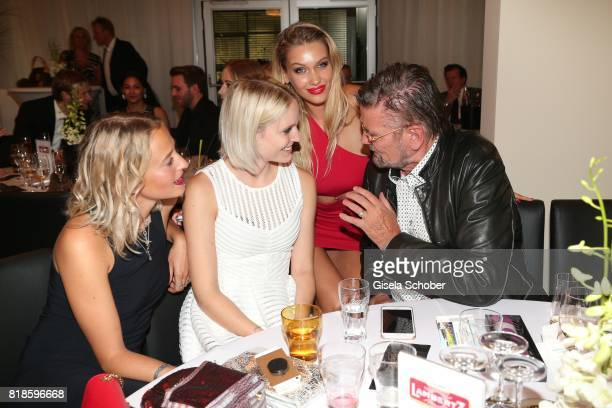 Nathalie Mix Model Kim Hnizdo Melinda London and Guenther Klum during the media night of the CHIO 2017 on July 18 2017 in Aachen Germany