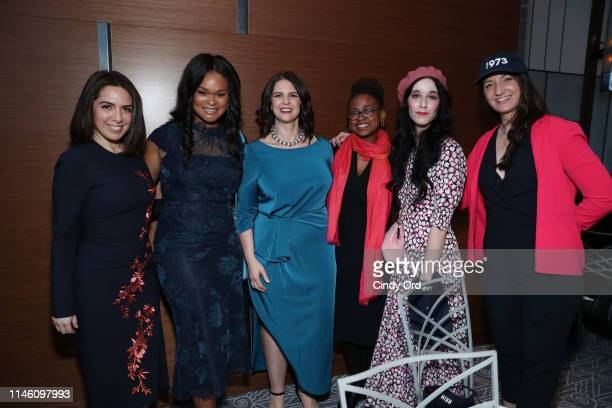 Nathalie Molina Nino Raquel Willis Andrea N Miller Jamia Wilson Sarah Sophie Flicker and Sara Lind pose for a photo during the National Institute for...