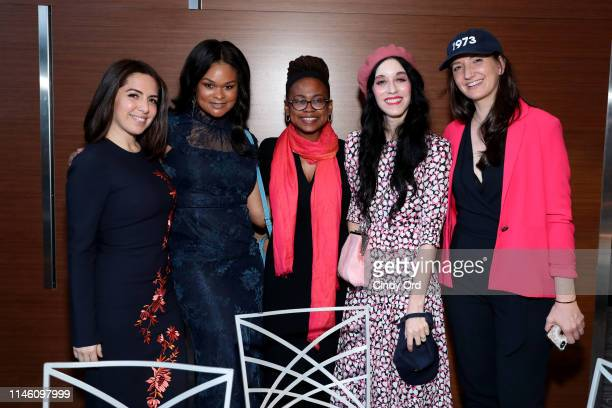 Nathalie Molina Nino Raquel Willis Jamia Wilson Sarah Sophie Flicker and Sara Lind pose for a photo during the National Institute for Reproductive...