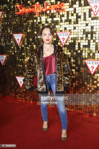 Nathalie Paris at the Guess Spring 2018 Campaign Reveal starring Jennifer Lopez on January 31 2018 in Los Angeles California