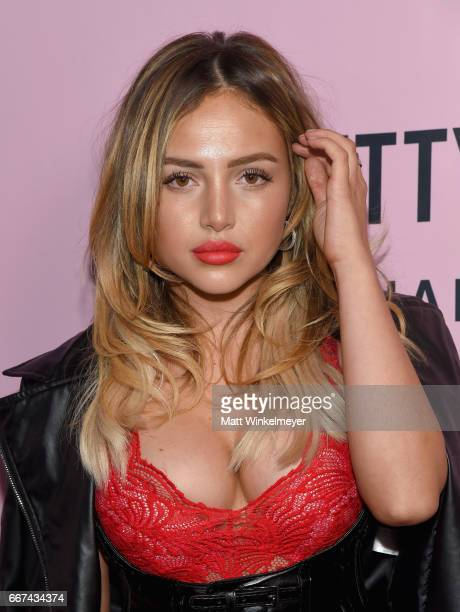 Nathalie Paris attends PrettyLittleThing Campaign Launch for PLT SHAPE with Brand Ambassador Anastasia Karanikolaou on April 11 2017 in Los Angeles...