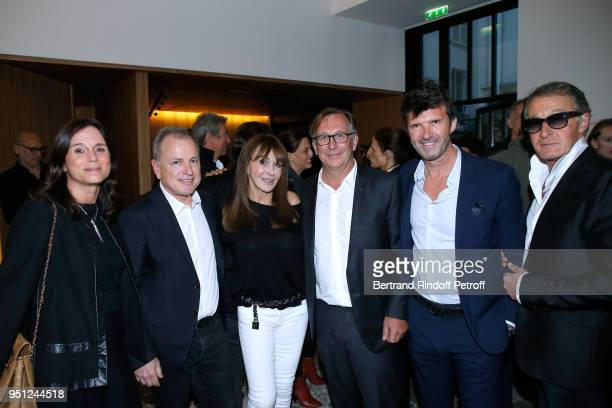 Nathalie Pavlovsky CEO of Louis Vuitton Michael Burke Creator of the 'Numero magazine' Babeth Djian President of Fashion Activities at Chanel Bruno...