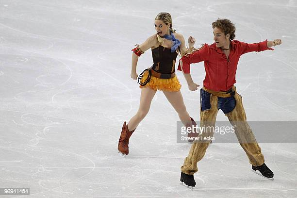 Nathalie Pechalat and Fabian Bourzat of France compete in the figure skating ice dance original dance on day 10 of the Vancouver 2010 Winter Olympics...