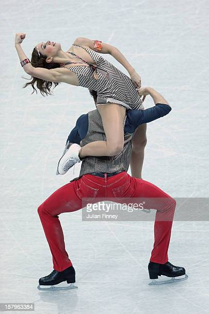 Nathalie Pechalat and Fabian Bourzat of France perform in the Ice Dance Free Dance during the Grand Prix of Figure Skating Final 2012 at the Iceberg...