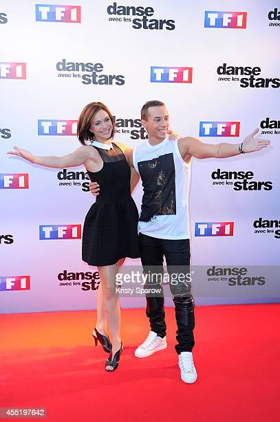 Nathalie Pechalat and Gregoire Lyonnet attend the 'Danse Avec Les Stars 2014' Photocall at TF1 on September 10 2014 in Paris France