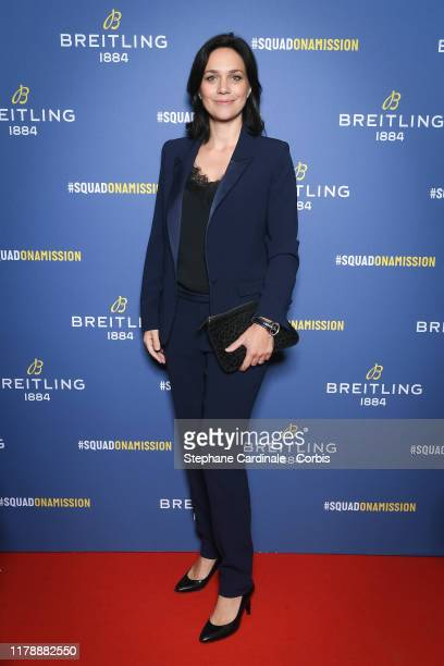 Nathalie Pechalat attends the Breitling 1884 flagship reopening party at 10 rue de la Paix on October 03 2019 in Paris France
