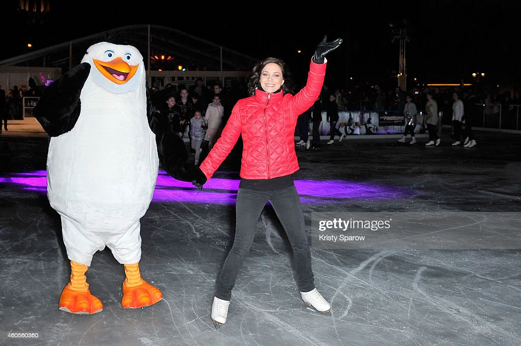 'Penguins Of Madagascar' : Paris Premiere At Hotel de Ville Ice-Skating Ring