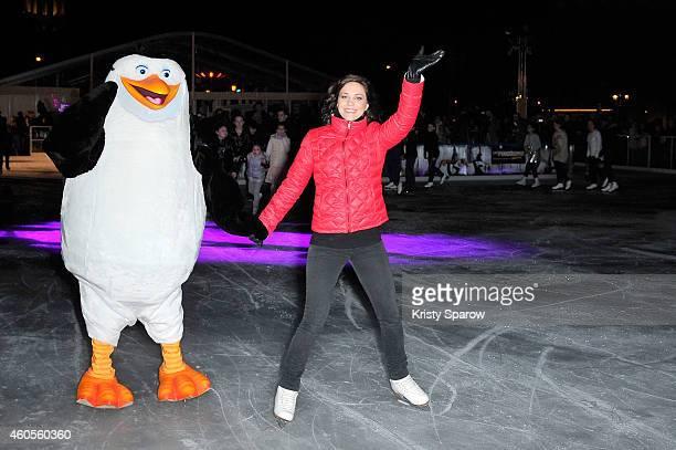 Nathalie Pechalat attends the 'Penguins of Madagascar' Paris Premiere at Hotel de Ville IceSkating Rink at Hotel de Ville on December 16 2014 in...
