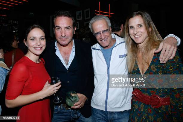Nathalie Pechalat Jean Dujardin Christophe Lambert and Emilie Patou attend Claude Lelouch celebrates his 80th Birthday at Restaurant Victoria on...