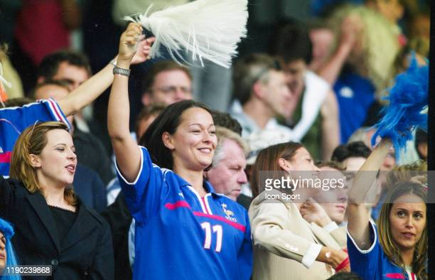 Nathalie PIRES wife of Robert PIRES during the European Championship Final match between France and Italy at Feyenoord Stadium Rotterdam Netherlands...