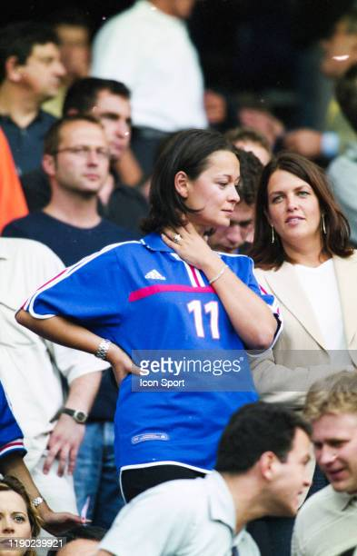 Nathalie PIRES wife of Robert PIRES of France during the European Championship Final match between France and Italy at Feyenoord Stadium Rotterdam...