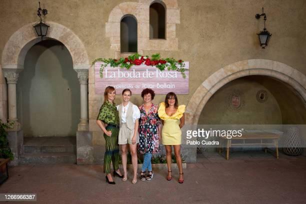 Nathalie Poza, Paula Usero, Iciar Bollain and Candela Peña attend 'La Boda De Rosa' photocall on August 18, 2020 in Madrid, Spain.
