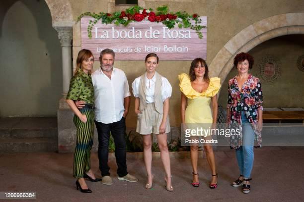 Nathalie Poza, Sergi Lopez, Paula Usero, Candela Peña and Iciar Bollain attend 'La Boda De Rosa' photocall on August 18, 2020 in Madrid, Spain.