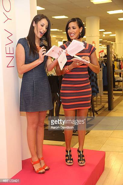 Nathalie Pozo and Julissa Bermudez hosts fashion show at Macy's Dadeland Mall on January 25 2014 in Miami Florida