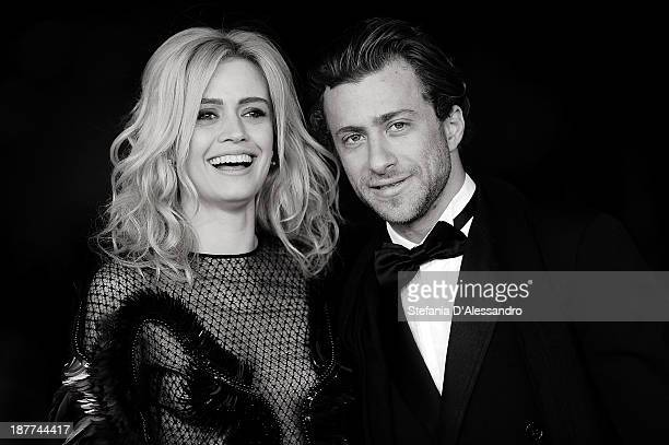 Nathalie Rapti Gomez and Francesco Carrozzini attend 'Romeo and Juliet' Premiere during The 8th Rome Film Festival at Auditorium Parco Della Musica...