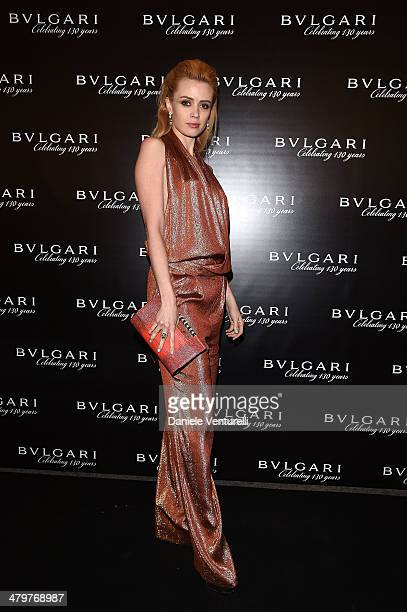 Nathalie Rapti Gomez attends 'Bvlgari Celebrates 130 Years In Rome' at Via Condotti on March 20 2014 in Rome Italy