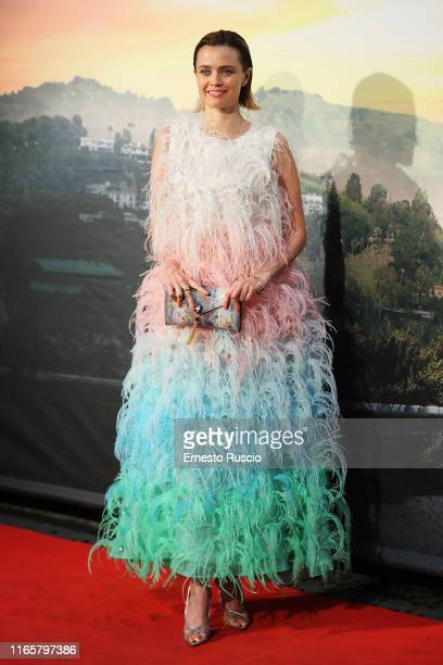 Nathalie Rapti Gomez attends the premiere of the movie Once Upon a time in Hollywood at Cinema Adriano on August 02 2019 in Rome Italy