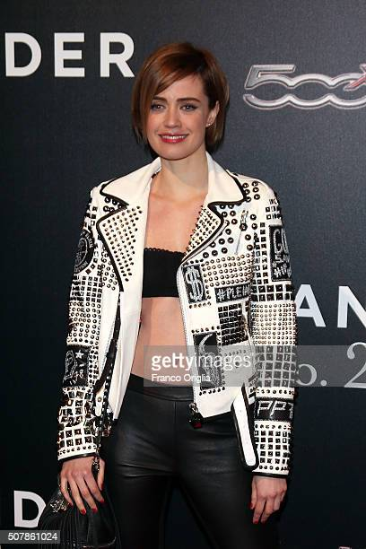 Nathalie Rapti Gomez attends the 'Zoolander No 2' Rome Fan Screening on January 30 2016 in Rome Italy
