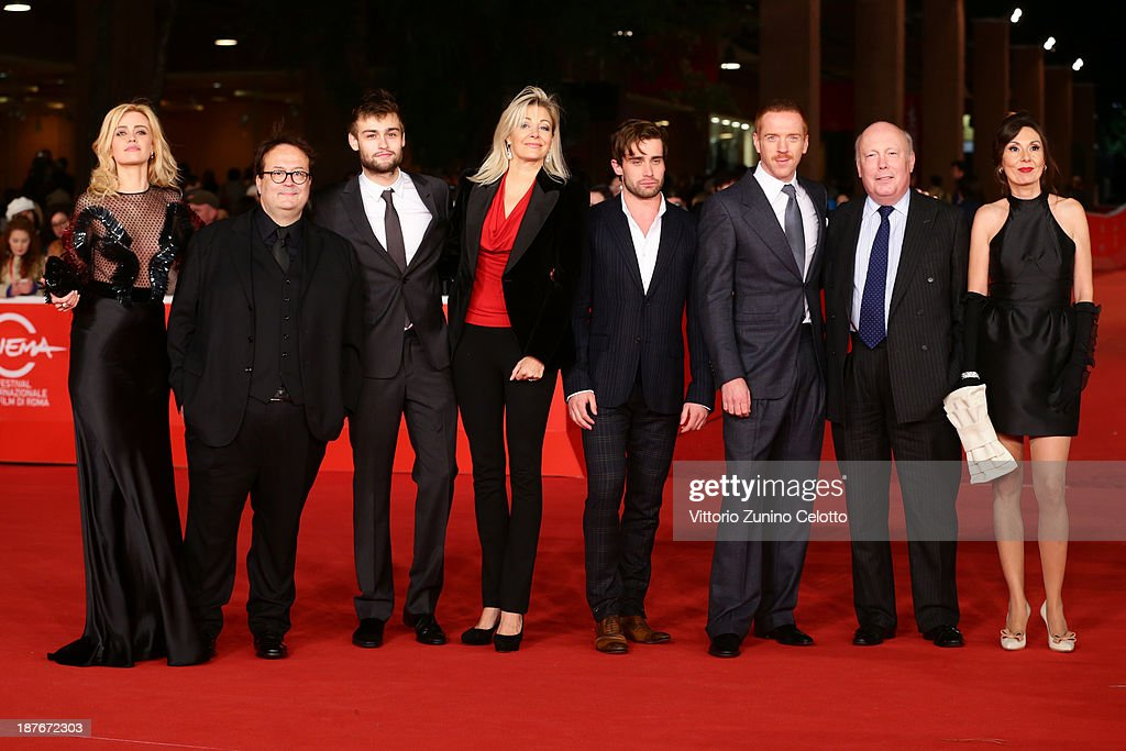 Nathalie Rapti Gomez, Carlo Carlei, Douglas Booth, Nadja Swarovski, Christian Cooke, Damian Lewis, Julian Fellowes and Simona Caparrini attends 'Romeo And Juliet' Premiere during The 8th Rome Film Festival at Auditorium Parco Della Musica on November 11, 2013 in Rome, Italy.