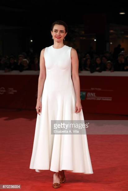 Nathalie Rapti Gomez walks a red carpet for 'The Place' during the 12th Rome Film Fest at Auditorium Parco Della Musica on November 4 2017 in Rome...
