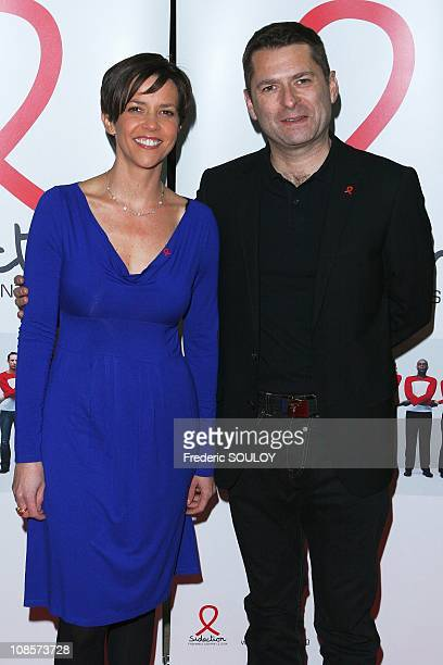 Nathalie Renoux and Thierry Guerrier in Paris France on February 19 2008
