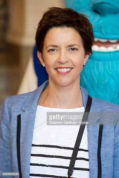 Nathalie Renoux attends 'Monsters University' Paris movie premiere held at La Sorbonne in Paris
