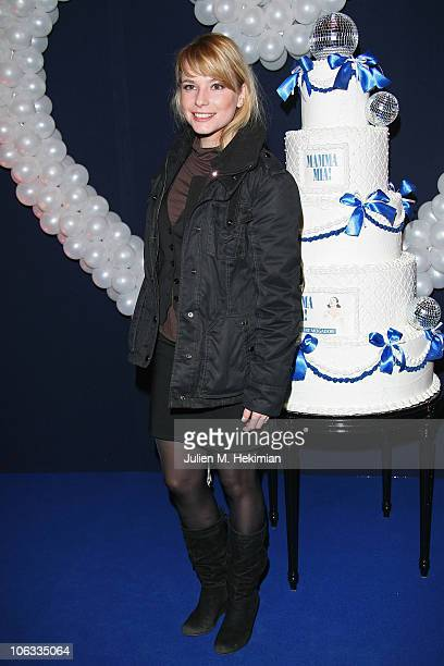 Nathalie Renoux attends the 'Mamma Mia ' Paris premiere at Theatre Mogador on October 28 2010 in Paris France