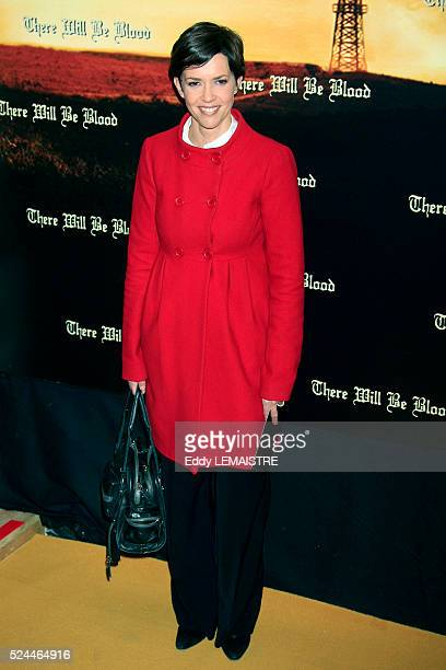 Nathalie Renoux attends the premiere of There will be blood in Paris