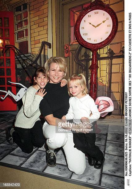 Nathalie Rihouet and her daughter Candice launching evening of 'One hundred and one Dalmatians 2' in VHS and DVD in Paris