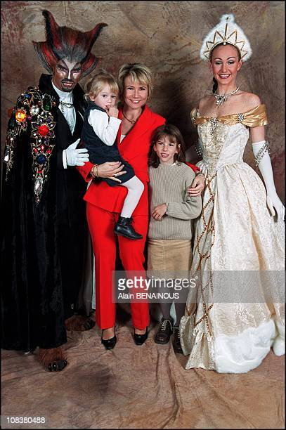 Nathalie Rihouet and her daughters Daphnee and Candice in France on November 10 2001