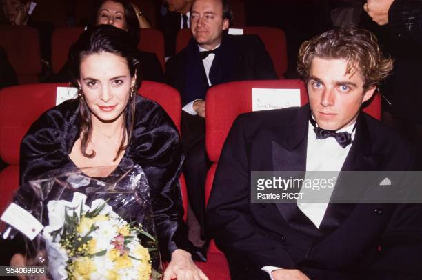 Nathalie Roussel et David Toscan Du Plantier à la 1ère de 'Mayrig' à Paris en novembre 1991 France