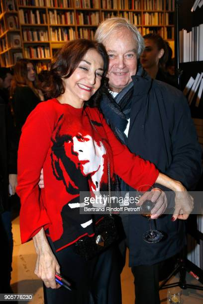 Nathalie Rykiel and her companion Serge Goldszal attend the Manifesto Sonia Rykiel 5Oth Birthday Party at the Flagship Store Boulevard Saint Germain...