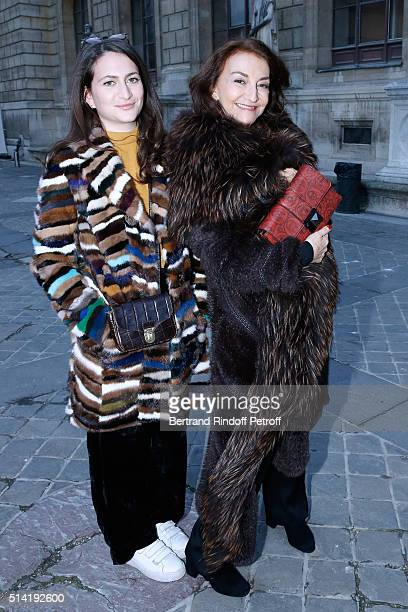 Nathalie Rykiel and her daghter Salome Burstein attend the Sonia Rykiel show as part of the Paris Fashion Week Womenswear Fall/Winter 2016/2017 on...