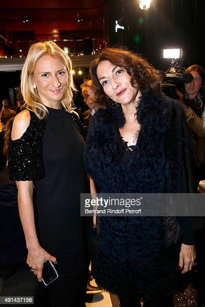Nathalie Rykiel and her daughter Lola Burstein attend the Sonia Rykiel show as part of the Paris Fashion Week Womenswear Spring/Summer 2016 on...