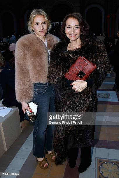 Nathalie Rykiel and her daughter Lola Burstein attend the Sonia Rykiel show as part of the Paris Fashion Week Womenswear Fall/Winter 2016/2017 on...