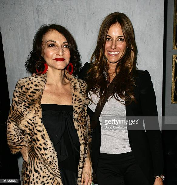Nathalie Rykiel and Kelly Killoren Bensimon attend the Sonia Rykiel Pour HM Knitwear Collection Preview at Bobo on February 4 2010 in New York City