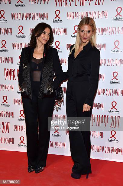 Nathalie Rykiel and Lola BursteinRykiel attend the Sidaction Gala Dinner 2017 Haute Couture Spring Summer 2017 show as part of Paris Fashion Week on...