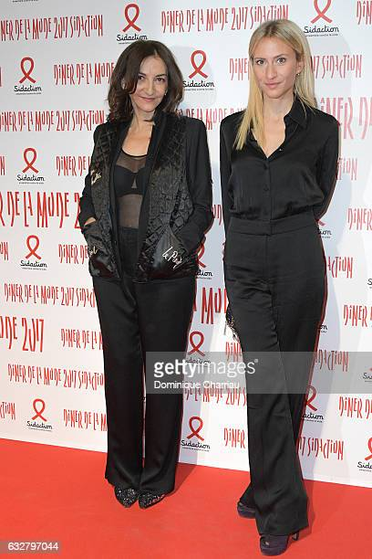 Nathalie Rykiel and Lola BursteinRykiel attend the Sidaction Gala Dinner 2017 as part of Paris Fashion Week on January 26 2017 in Paris France