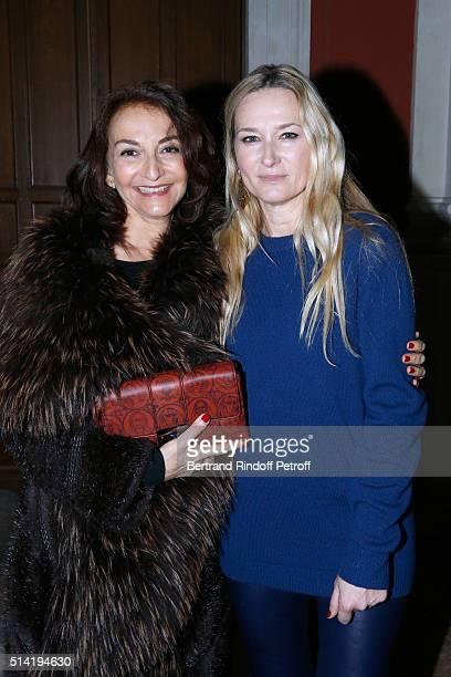 Nathalie Rykiel and Stylist of Sonia Rykiel Julie de Libran pose after the Sonia Rykiel show as part of the Paris Fashion Week Womenswear Fall/Winter...
