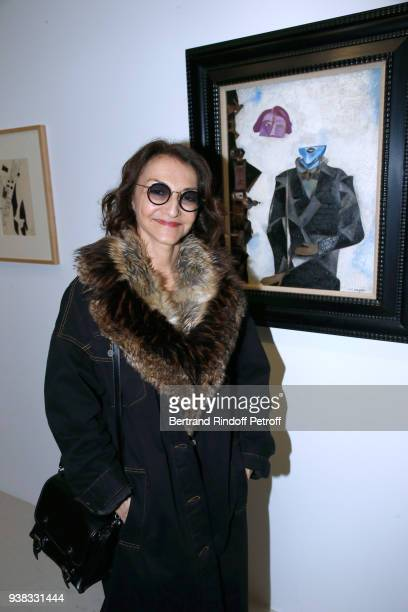Nathalie Rykiel attends the 'Chagall Lissitzky Malevitch L'Avantgarde Russe a Vitebsk 19181922' Press Preview at Centre Pompidou on March 26 2018 in...